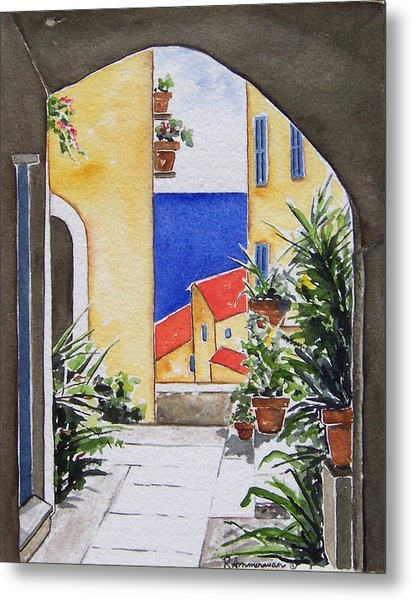 View From The Arch Metal Print by Regina Ammerman