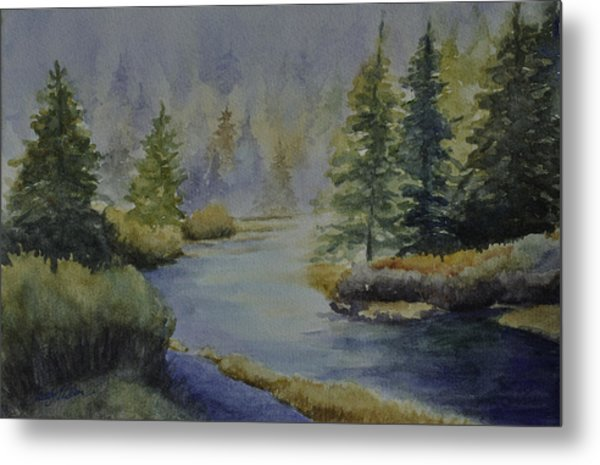 Where The River Leads Metal Print