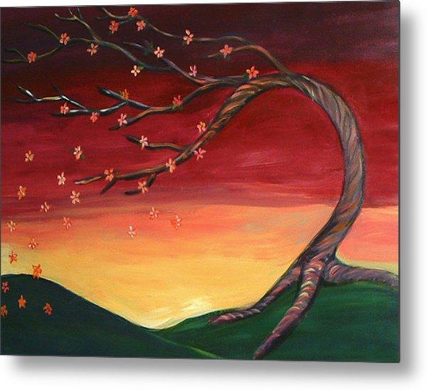 Whispering Autumn Tree Metal Print by Astrid Padilla