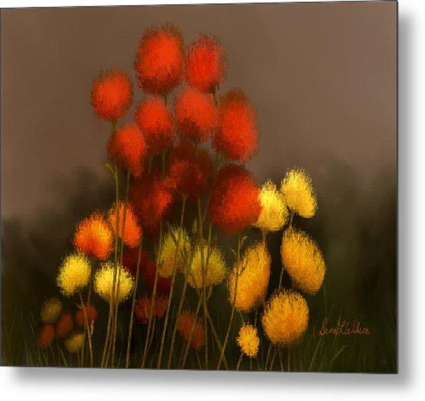 Wildflowers In Symphony Metal Print