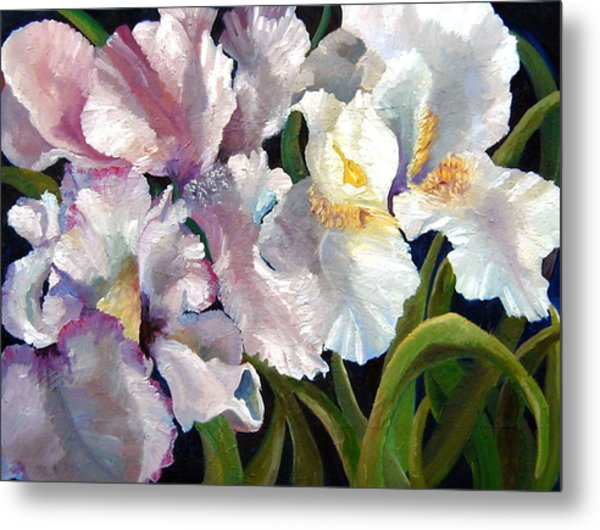 I Love Iris Metal Print by Marcy Silverstein