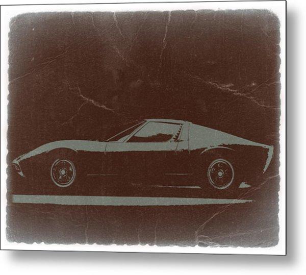 Lamborghini Miura Metal Print