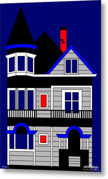 1080 Haight Street Metal Print by Asbjorn Lonvig