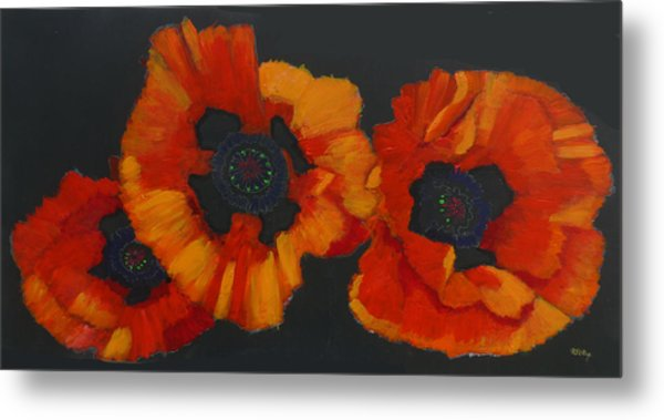 3 Poppies Metal Print