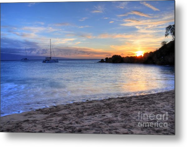 Black Rock Sunset Metal Print
