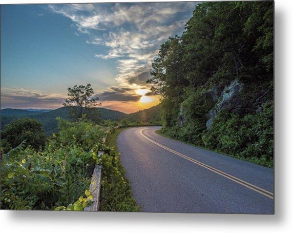 Blue Ridge Parkway Morning Sun Metal Print