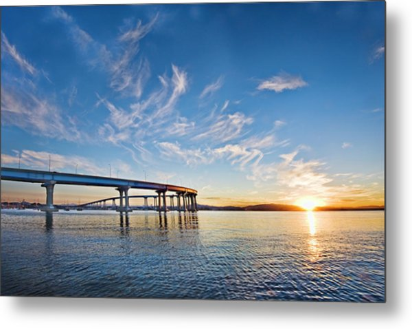 Bridge Sunrise Metal Print