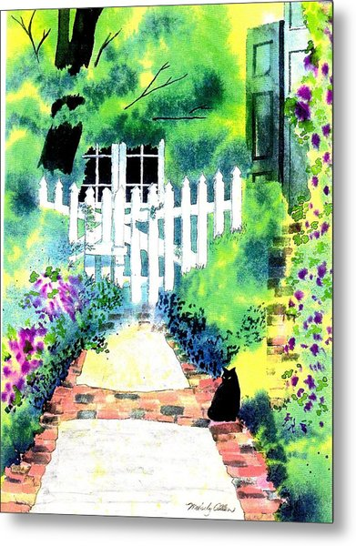 Charleston Gate Metal Print by Melody Allen
