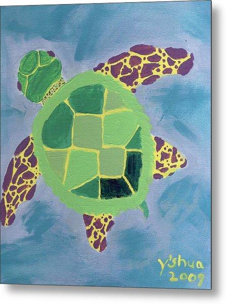 Chiaras Turtle Metal Print