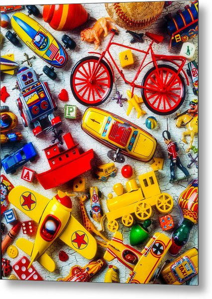 Childhood Toys Metal Print