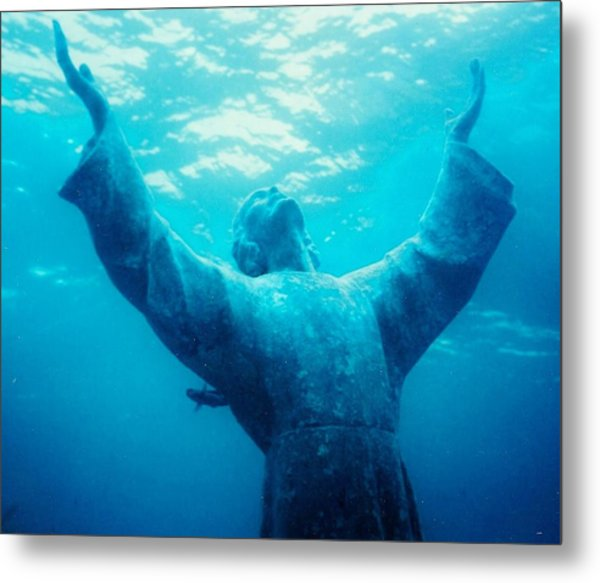 Christ At Sea Metal Print by Renee Shular