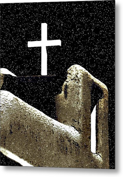 Christmas In Taos Metal Print