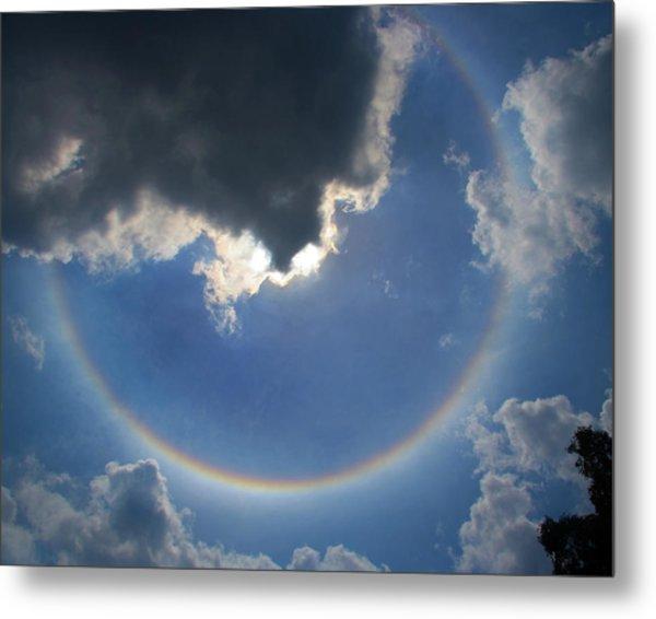 Circular Rainbow Metal Print