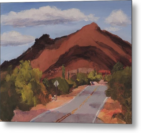 Cloud Shadows On Black Mountain Metal Print