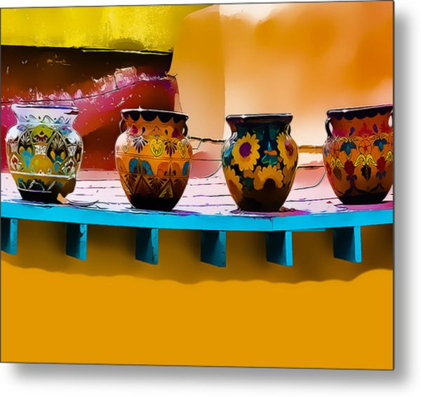 Courtyards Of Taos Metal Print