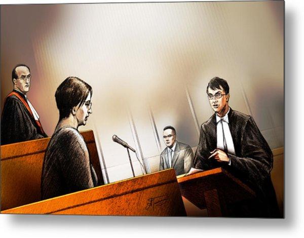 Defence Attorney Dirk Derstine At The Tori Stafford Murder Trial In London Metal Print