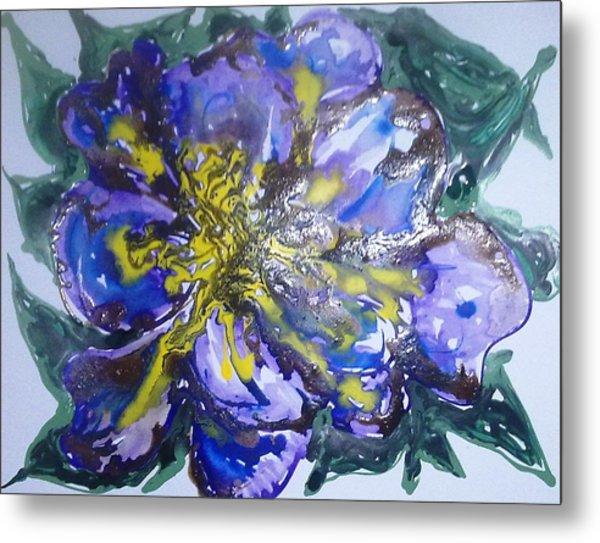 Digital Flower Painting Metal Print by Baljit Chadha