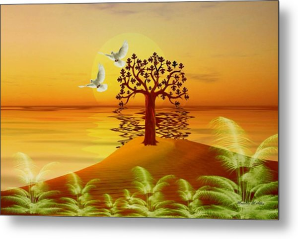 Enchanted Isle Metal Print by Madeline  Allen - SmudgeArt