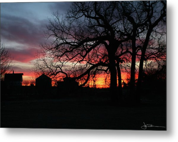 Farm Sunrise Metal Print