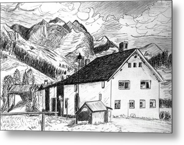 Fextal Switzerland Metal Print by Monica Engeler