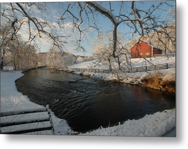 First Snow Metal Print by William A Lopez