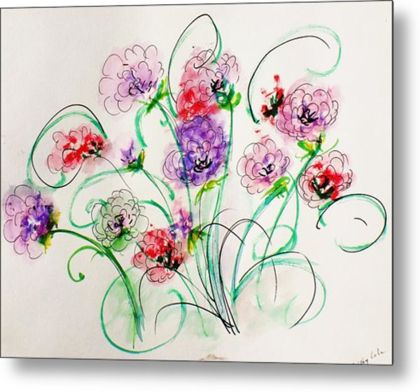 Floral Bunch Metal Print by Trilby Cole