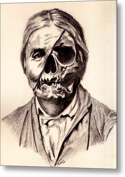 Geronimo's Skull Metal Print
