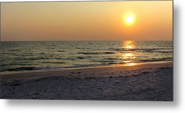 Golden Setting Sun Metal Print