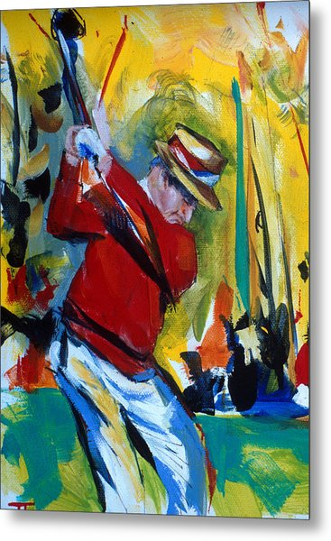 Golf Red Metal Print