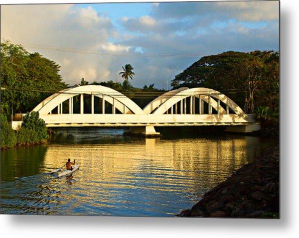 Haleiwa Bridge Metal Print
