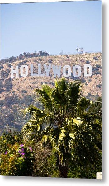 Hollywood Sign Photo Metal Print