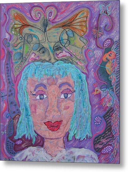 In Her Eyes Metal Print by Marlene Robbins