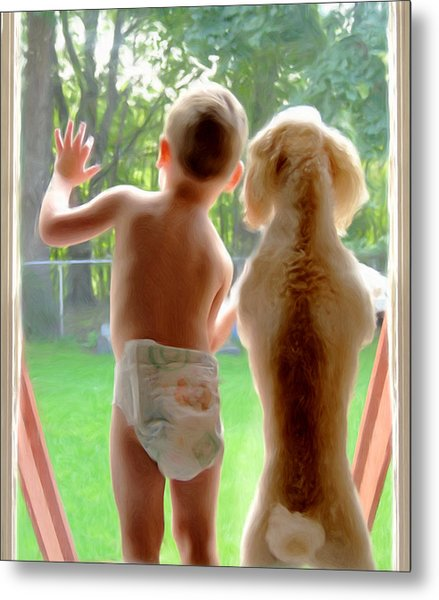Jack And Buddy Metal Print by Russell Michael