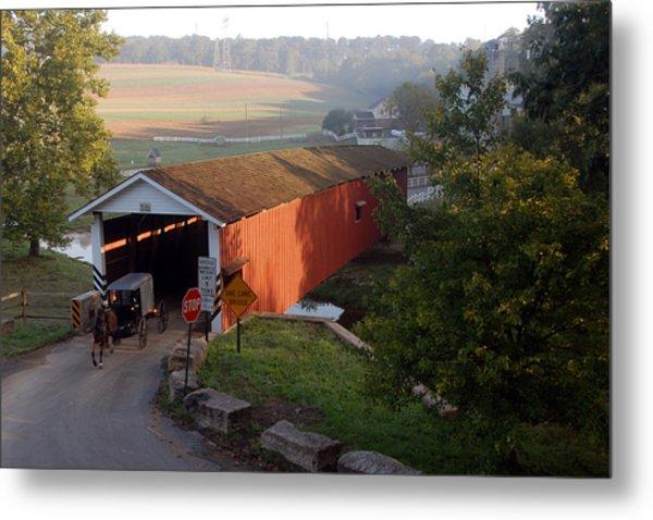 Jacksons Sawmill Covered Bridge Metal Print