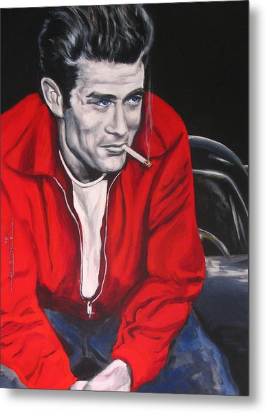 James Dean Put His Picture In A Picture Show Metal Print