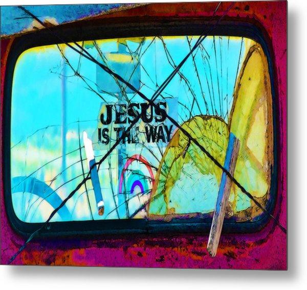 Jesus Is The Way Metal Print