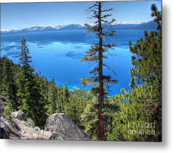 Lake Tahoe From Flume Trail Over Sand Harbor State Park Metal Print