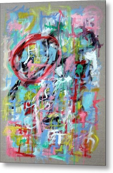Large Abstract No 5 Metal Print by Michael Henderson