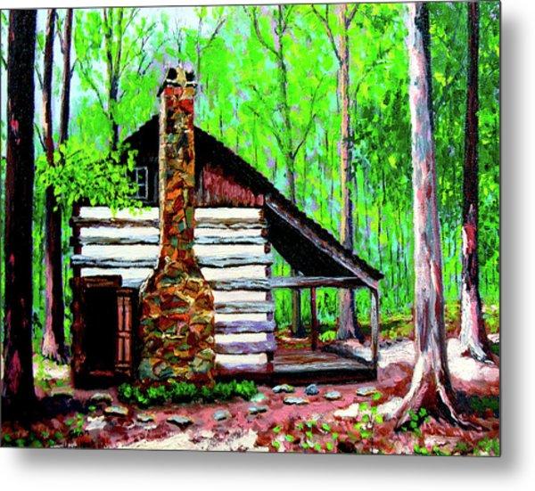 Log Cabin V Metal Print by Stan Hamilton
