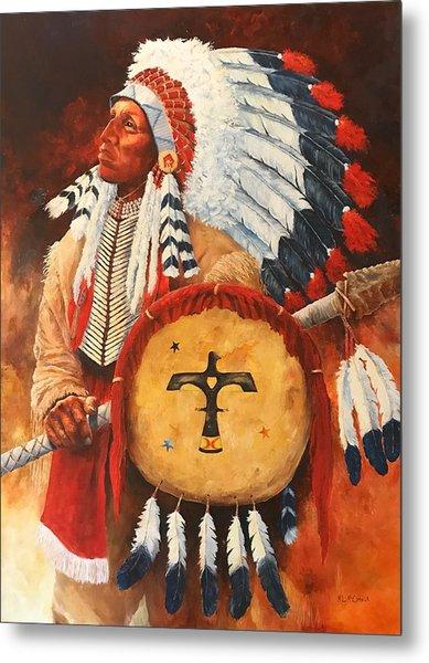 Lone Elk, Sioux Chief Metal Print