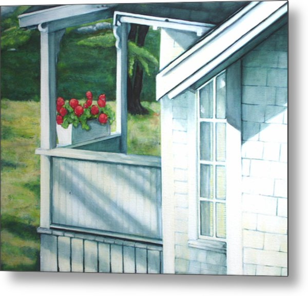 Maine Porches Number One Metal Print by Leo Malboeuf