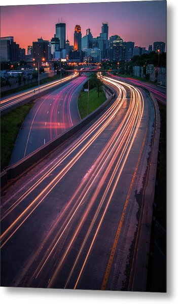 Minneapolis In Motion Metal Print