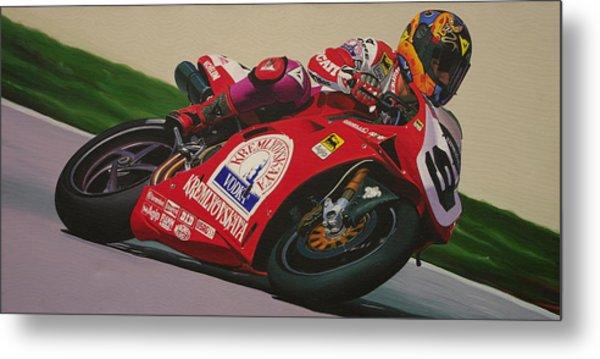 Neil Hodgson - Ducati World Superbike Metal Print by Jeff Taylor