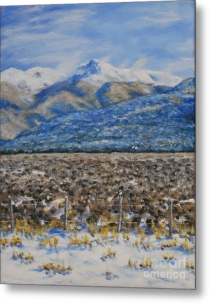 North Of Taos Metal Print