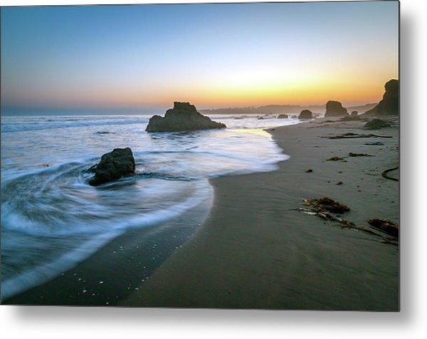 Ocean Seascape Sunset Metal Print