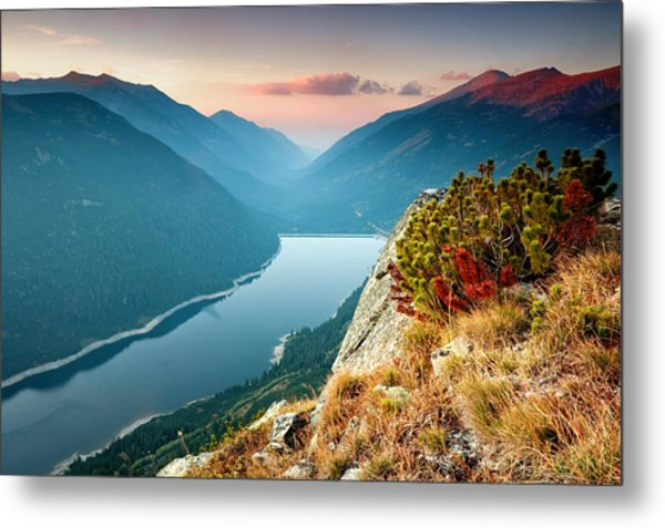 On The Edge Of The World Metal Print