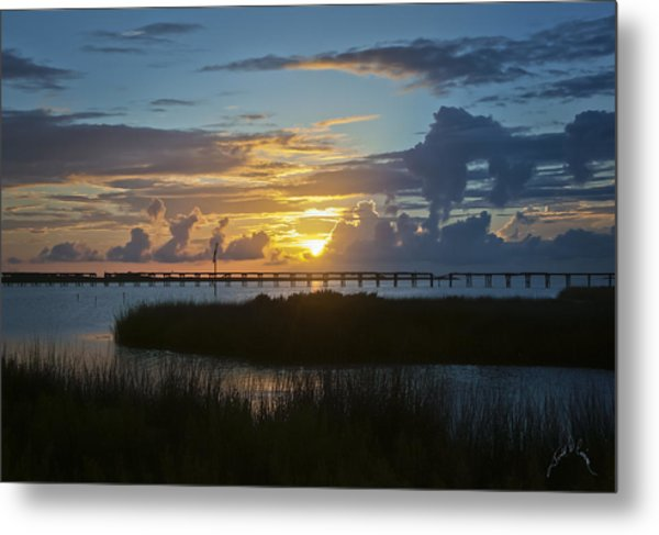Outer Banks Sunset Metal Print by Williams-Cairns Photography LLC