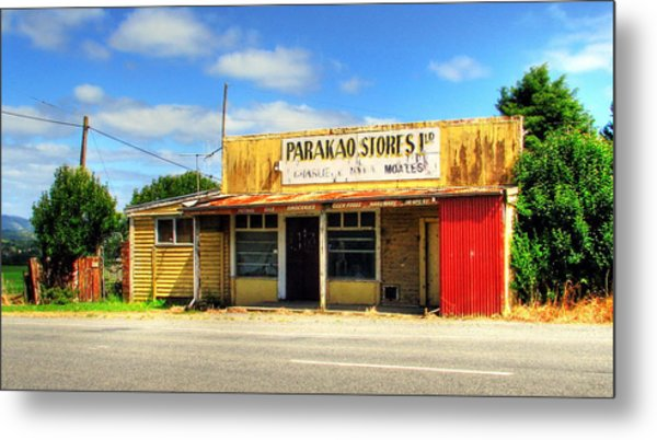 Parakoa Store New Zealand Metal Print by Andrew Simmonds