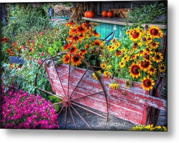 Penza's Red Barn  Metal Print