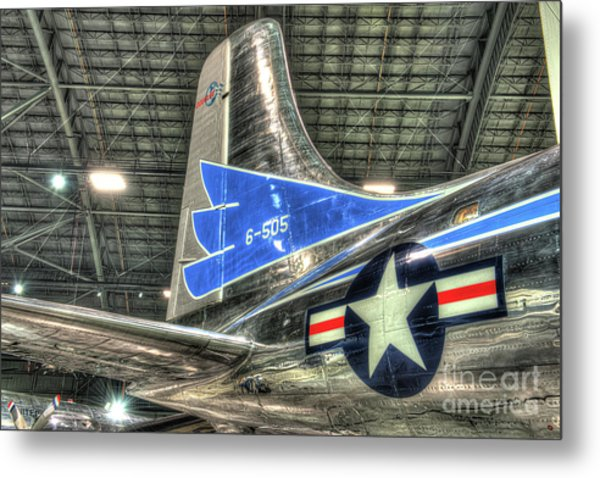 Presidential Aircraft - Douglas Vc-118, The Independence - Tail Section  Metal Print